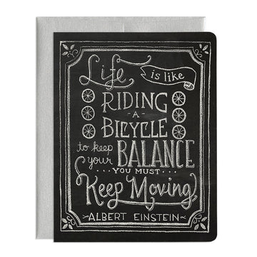 Life is Like Riding a Bicycle Greeting Card