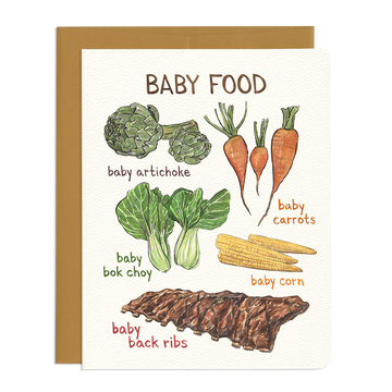 Baby Food Greeting Card