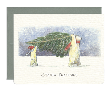 Storm Troopers Greeting Card