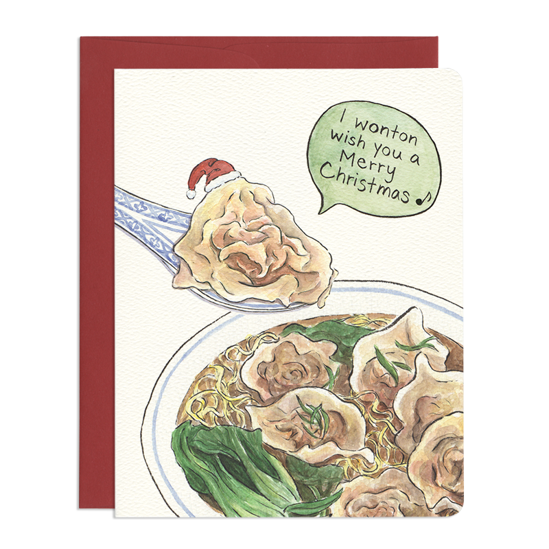 Wonton Christmas Greeting Card