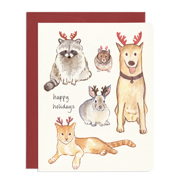 Holiday Antlers Greeting Card