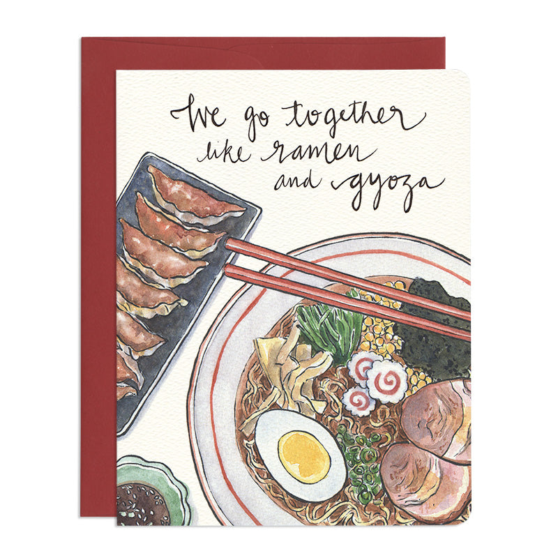 Ramen & Gyoza Greeting Card