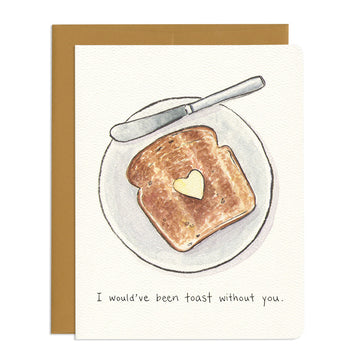 Thankful Toast Thank You Card