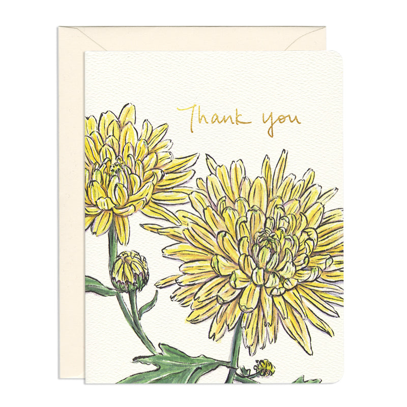 Chrysanthemum Thank You Card