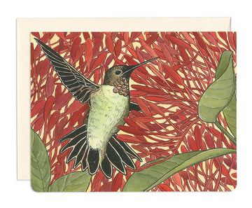 Hummingbird Healer Greeting Card