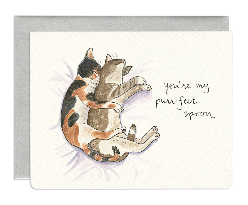 Purr-fect Spoon Greeting Card