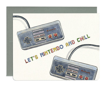 Nintendo and Chill Greeting Card