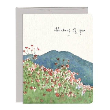 Cosmos Thinking of You Greeting Card
