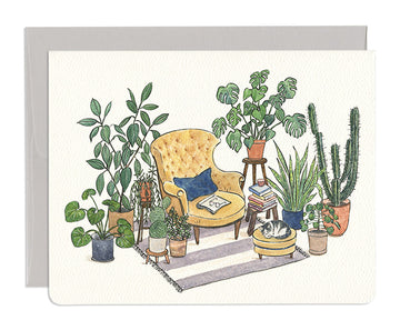 Reading Nook Greeting Card