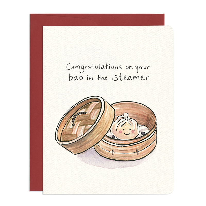 Baby Bao Greeting Card