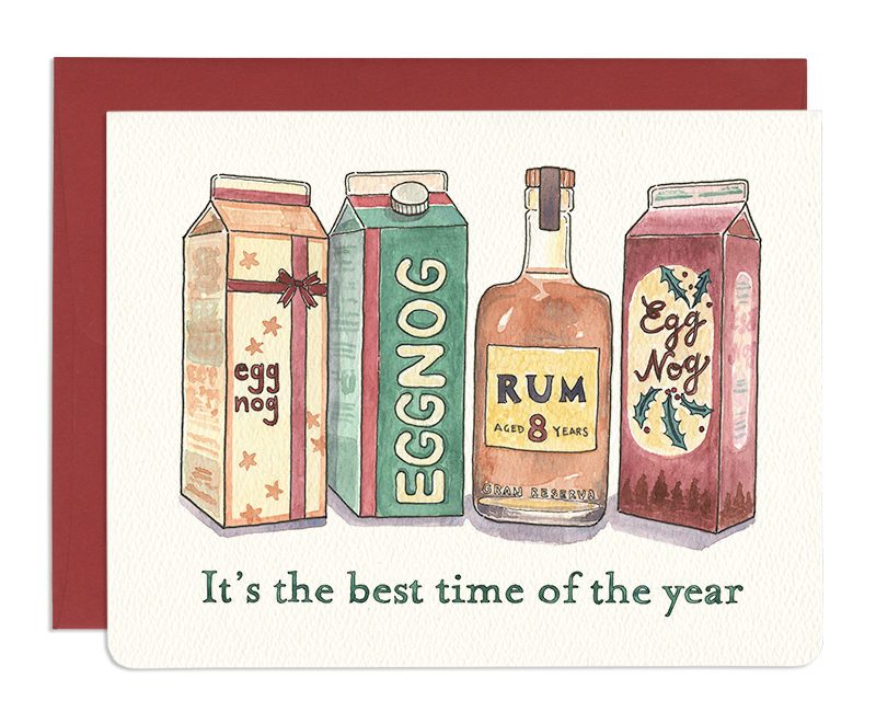 Eggnog & Rum Greeting Card