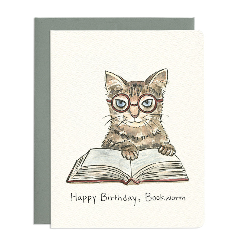 Bookworm Birthday Card