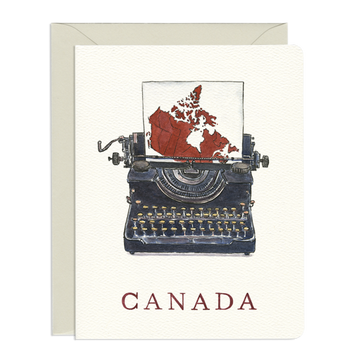Canada Typewriter Greeting Card