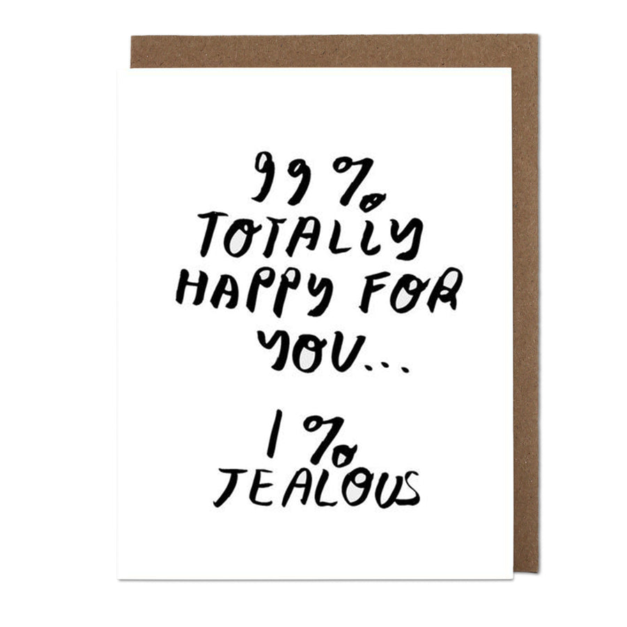99% Happy Greeting Card