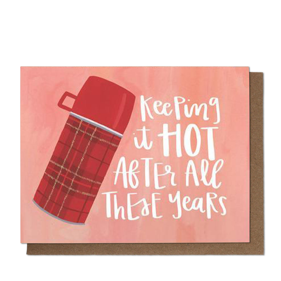 Keeping It Hot Thermos Greeting Card