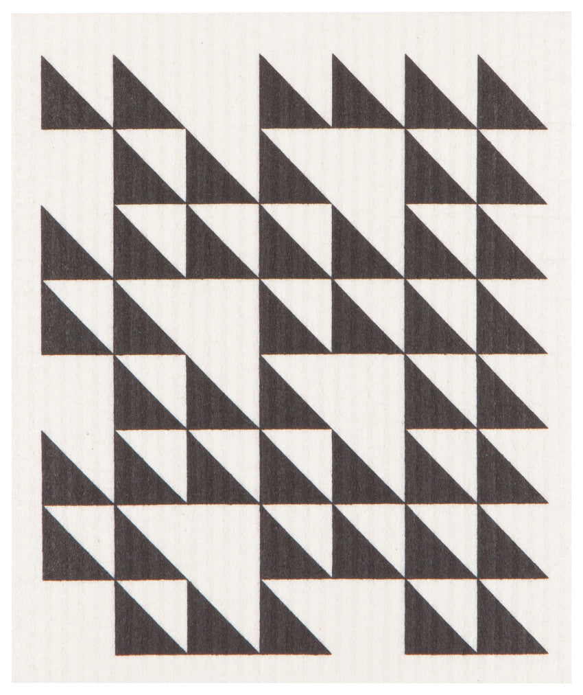 Swedish Sponge Cloth - Black Triangles