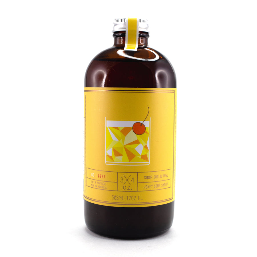 3/4 Oz. - Honey Sour Cocktail Syrup