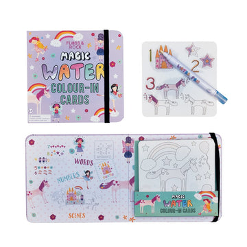 F+R Fairy Unicorn Magic Water Colour-In Cards
