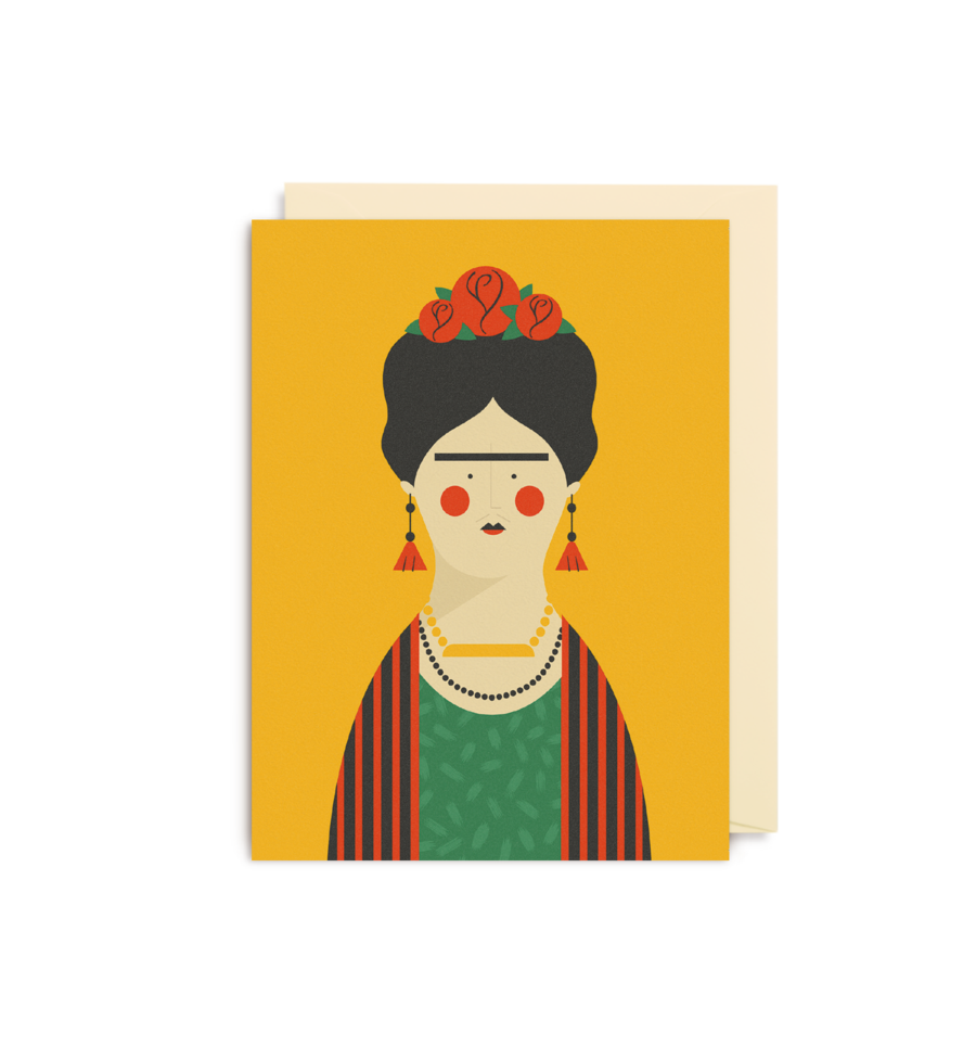 Frida Kahlo Mini Greeting Card
