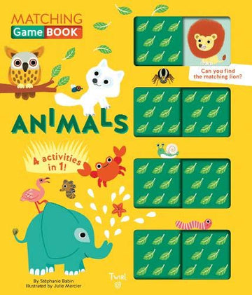 Animals Matching Game Board Book