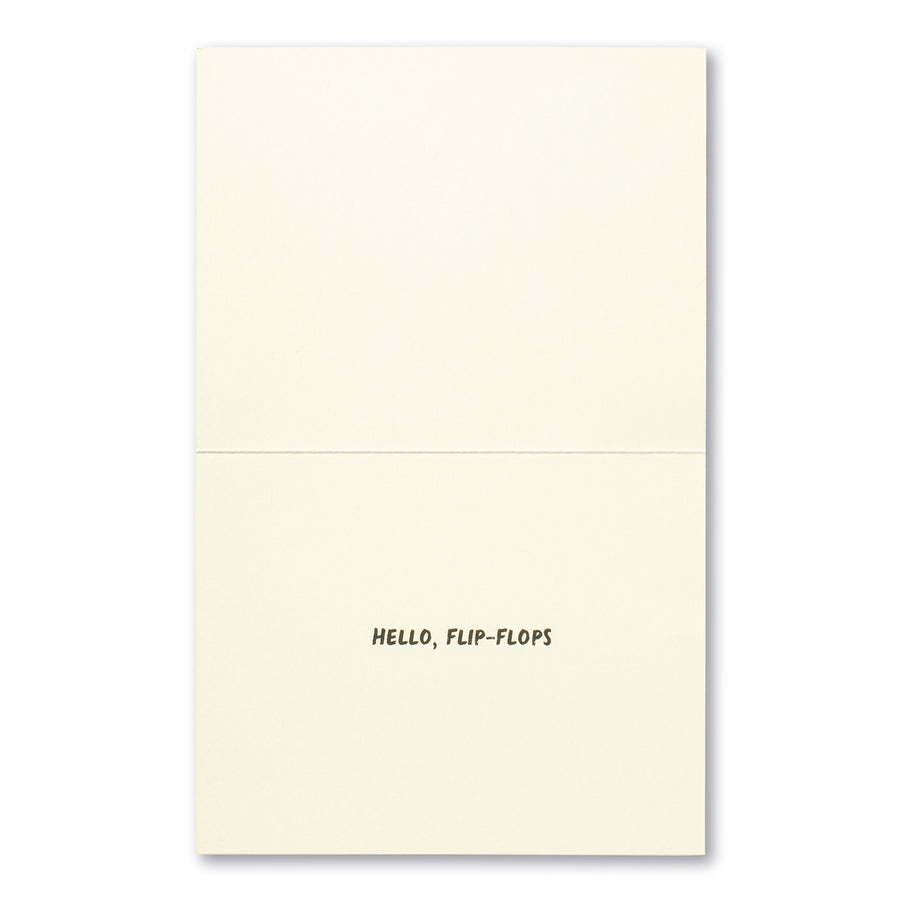 Goodbye, Work Clothes Greeting Card