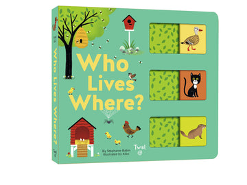 Who Lives Where? Board Book