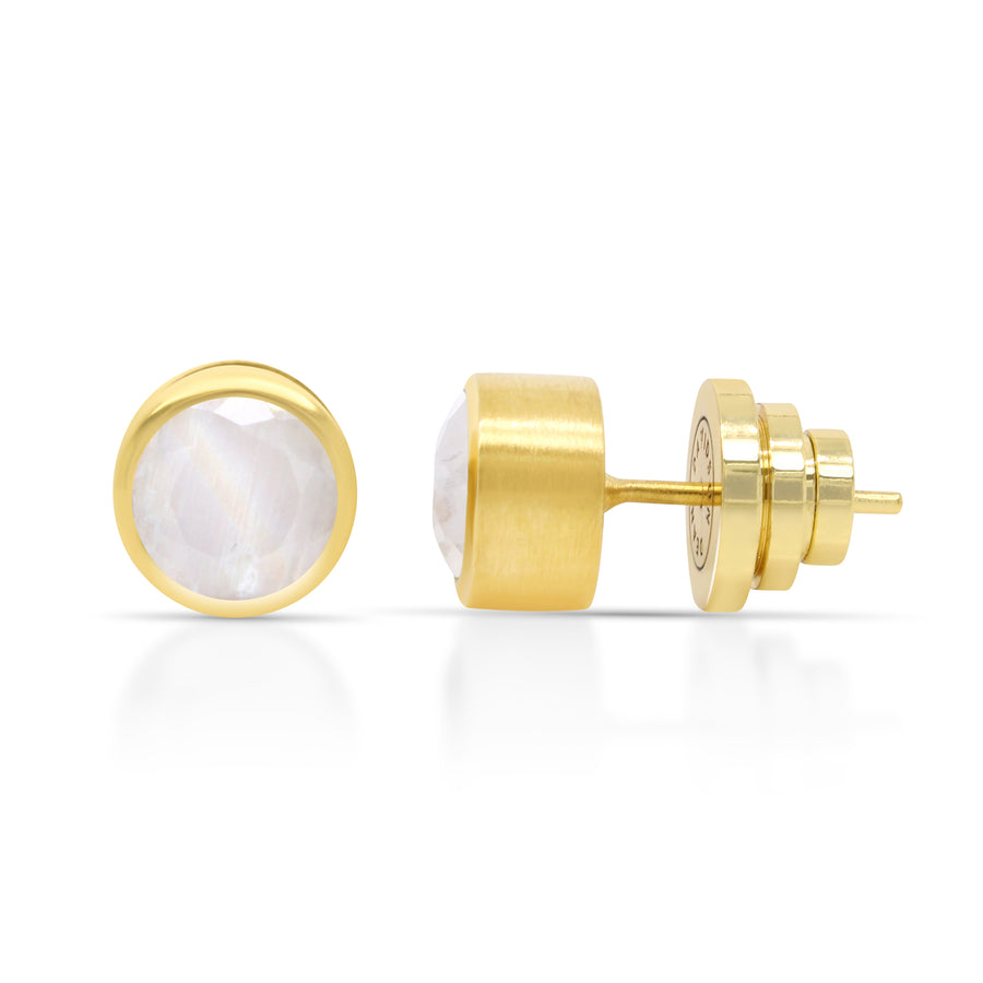 Dean Davidson - Signature Midi Knockout Studs in Gold and Moonstone