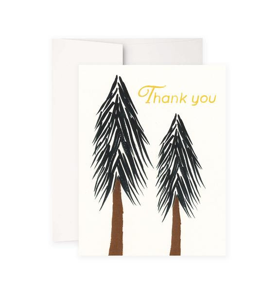 Trees Thank You Card