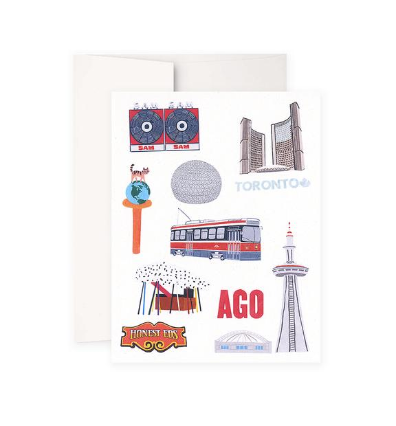 Toronto Landmarks Greeting Card