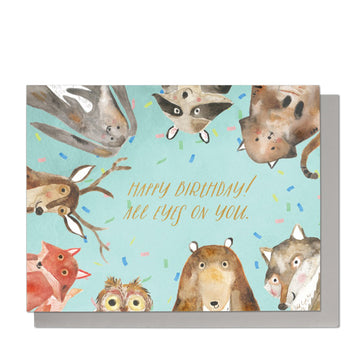 All Eyes On You Birthday Card
