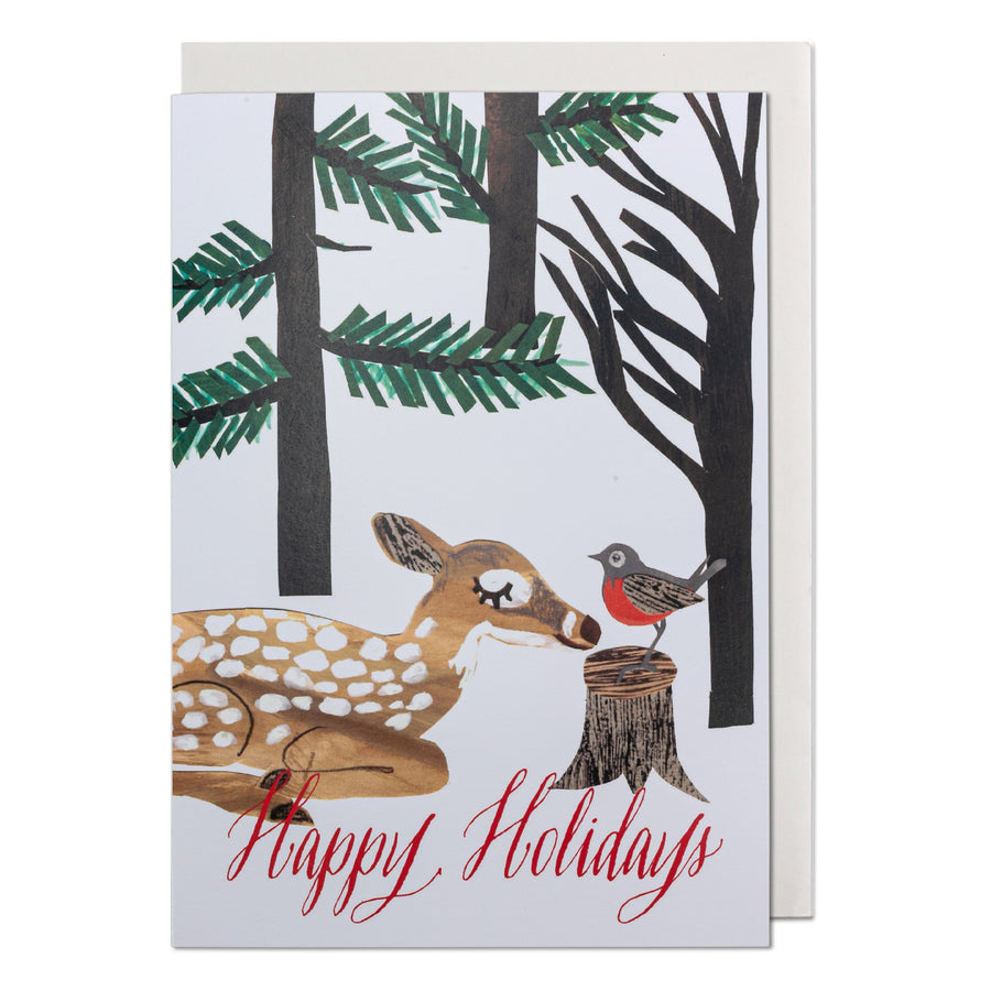 Deer & Robin Greeting Card