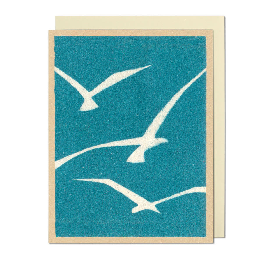 Grace Blue Birds on White Greeting Card