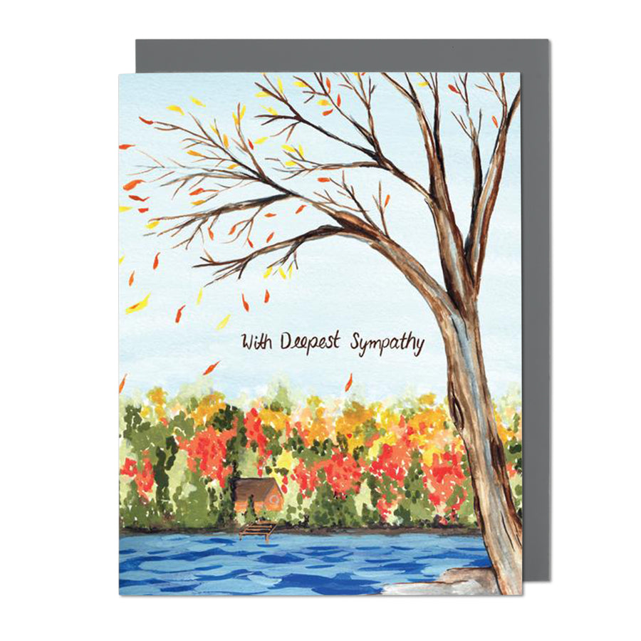 Autumn Deepest Sympathy Greeting Card