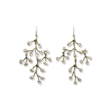 Michael Michaud - Baby's Breath Chandelier Earrings