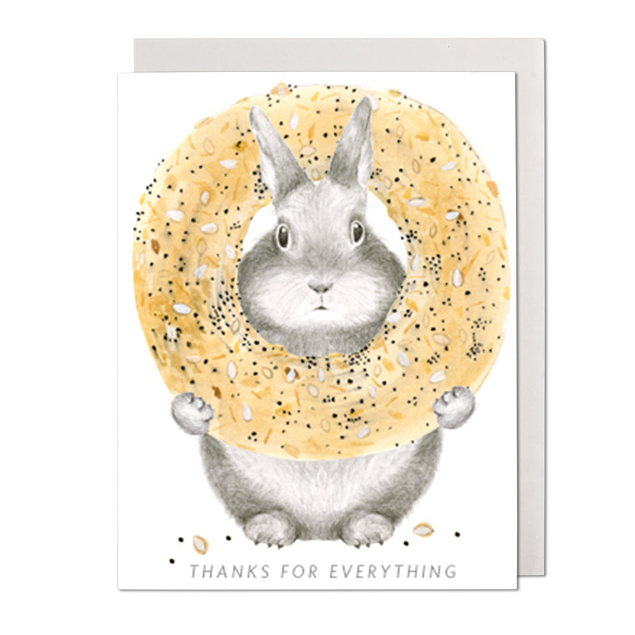 Thanks For Everything Bunny Greeting Card