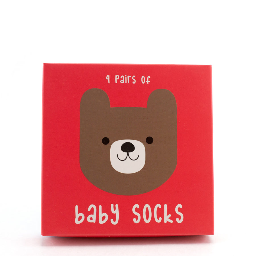 Bear Baby Socks (Set of 4)
