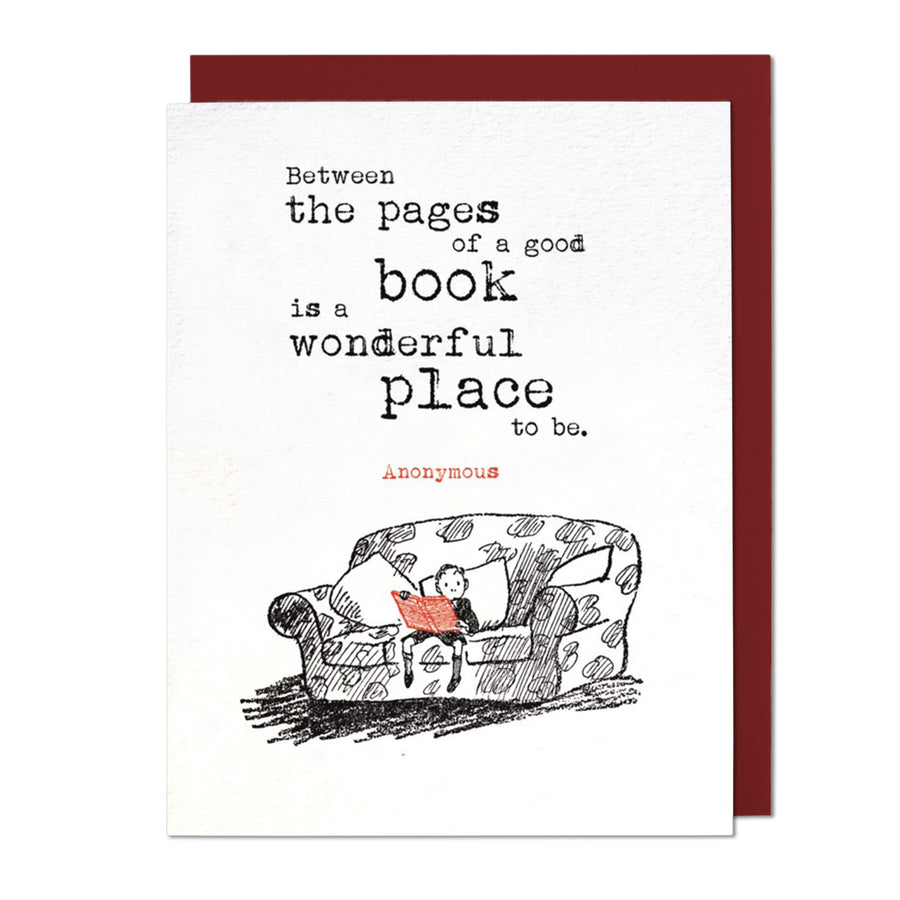 Between the Pages Greeting Card