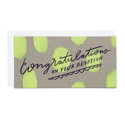 Congratulations on Adoption Greeting Card