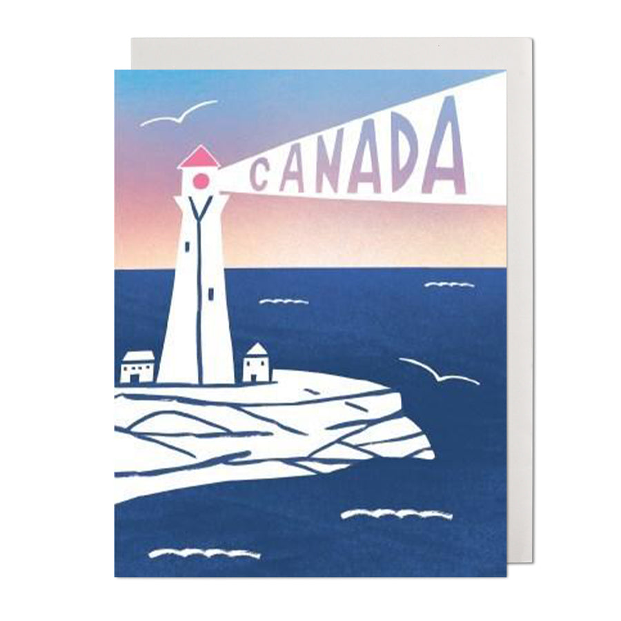 Canada Lighthouse Greeting Card