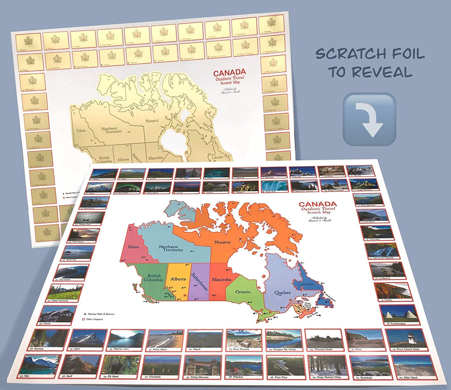 Canada Outdoors Travel Scratch Map