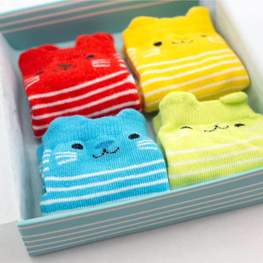 Cat Baby Socks (Set of 4)