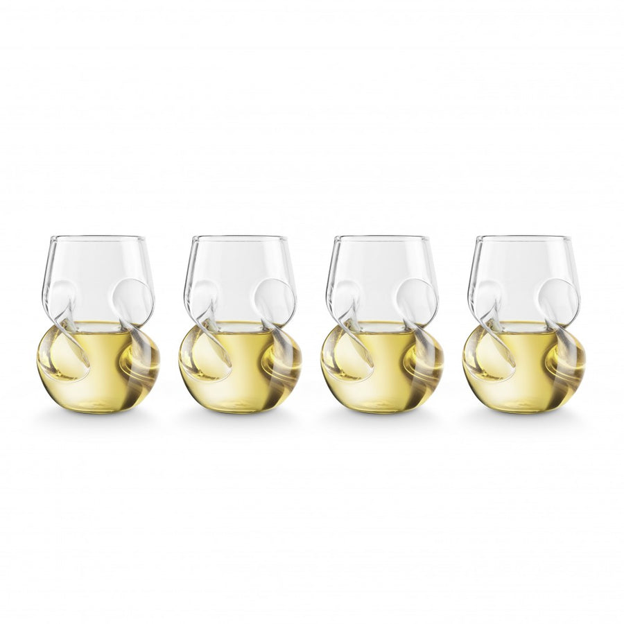 Final Touch - Conundrum White Wine Glasses (Set of 4)