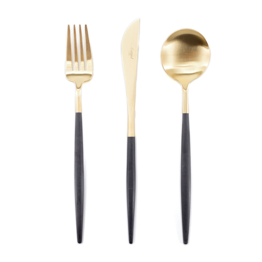 Cutipol - Goa Black and Gold Cutlery Set