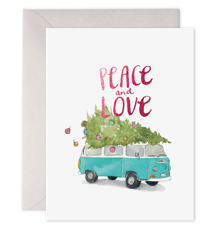 Holiday VW Bus Greeting Card