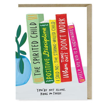 You're Not Alone Books Greeting Card
