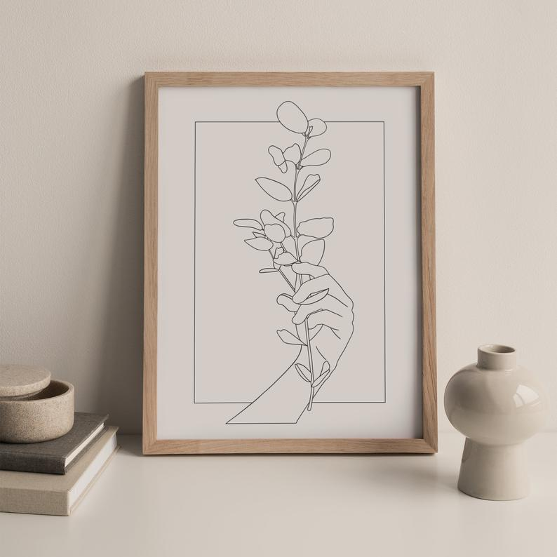 Little Button Club - Eucalyptus Art Print