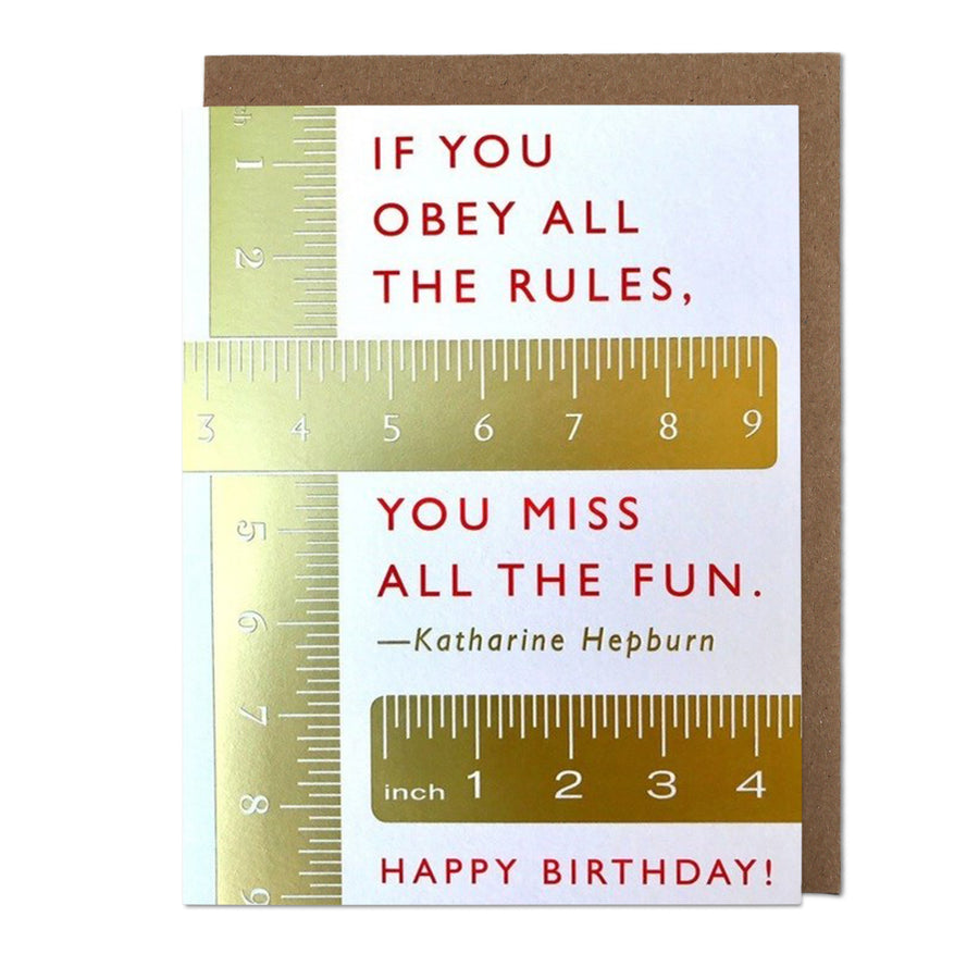 Rules Birthday Card