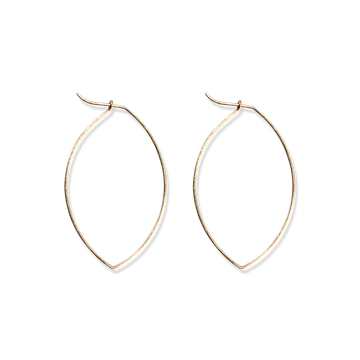 Fine & Good - Medium Leaf Hoops