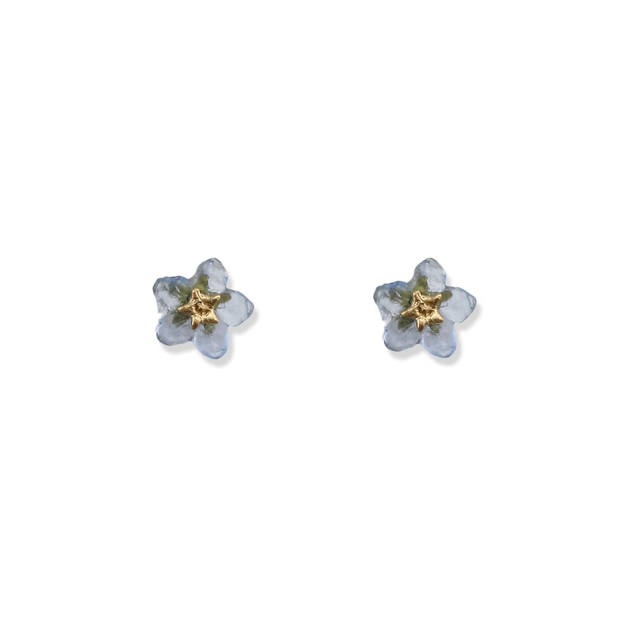Michael Michaud - Forget Me Not Flower Studs