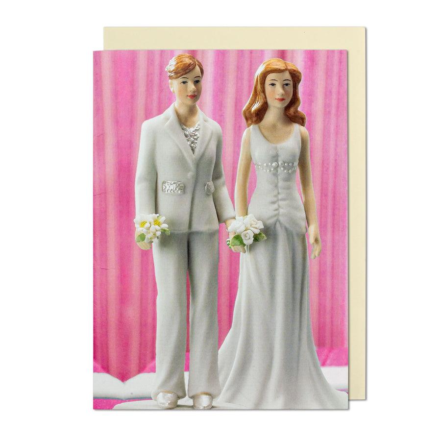 Two Girls Cake Toppers Greeting Card